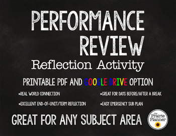 Performance Review Reflection Activity