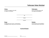 Performance Review Worksheet