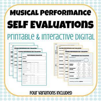 Musical Performance Self Evaluation