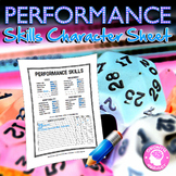 Performance Skills Character Sheet