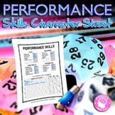 Performance Skills Character Sheet