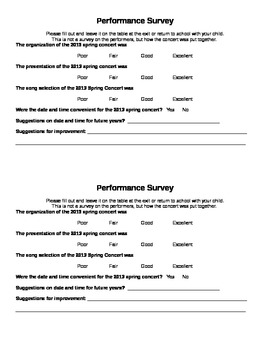 Performance Survey