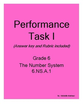 Performance Task 6.1.NS.A.1