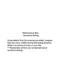 Performance Task:  Ancient China