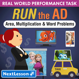 Bundle G4 Area, Multiplication & Word Problems - Run the Ad Performance Task