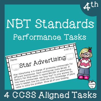 Performance Task Assessments ~  Place Value & Multi-Digit Operations ~ 4th Grade