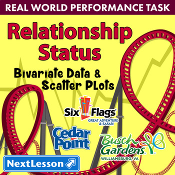 Bundle G8 Bivariate Data & Scatter Plots-'Relationship Status' Performance Task