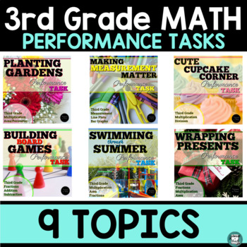 SBAC Prep Math Task Bundle 3rd Grade By Talented In Third