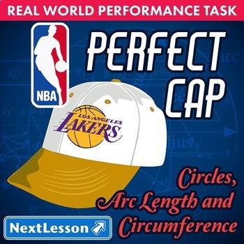 Bundle G9-12 Circles Arc Length & Circumference - 'Perfect Cap NBA' Task