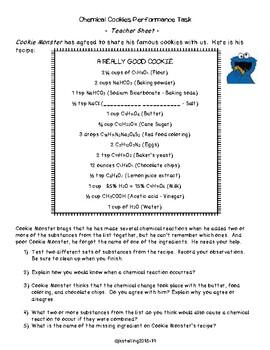 Performance Task Cookie Monster (TEKS 6.5D)