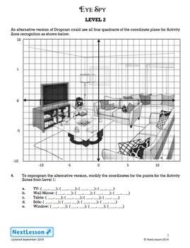 Performance Task – Coordinate Plane & Area – Eye Spy