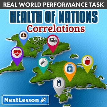Performance Task – Correlations – Health of Nations – South America