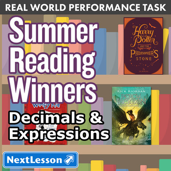Bundle G5 Decimals & Expressions - 'Summer Reading Winners' Performance Task
