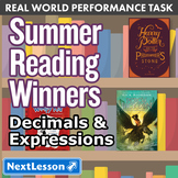 Bundle G5 Decimals & Expressions - Summer Reading Winners Performance Task