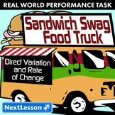 Performance Task – Direct Variation – Sandwich Swag Food Truck – Veggie Subs