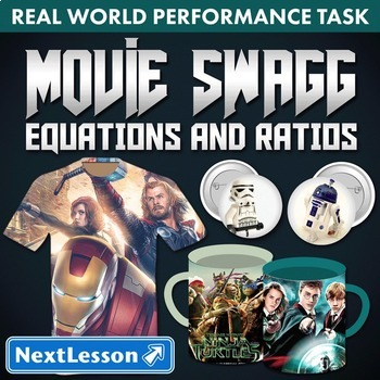 Bundle G6 Equations and Ratios - 'Movie Swagg' Performance Task