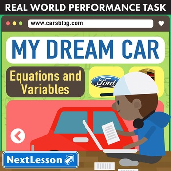 Performance Task – Equations and Variables – My Dream Car – Toyota