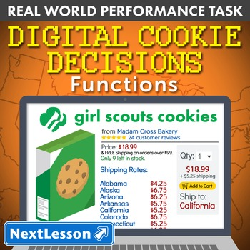 Performance Task – Functions – Digital Cookie Decisions - Arizona