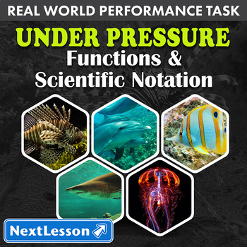 Performance Task – Functions and Scientific Notation – Under Pressure
