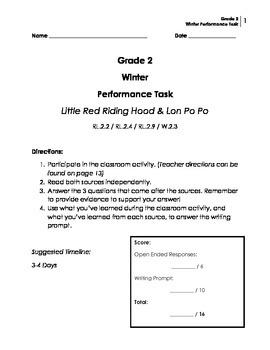 Performance Task: Grade 2 (Narrative)