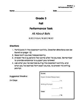 Performance Task: Grade 3 (Informative)