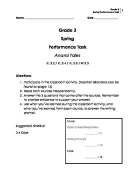 Performance Task: Grade 3 (Narrative)