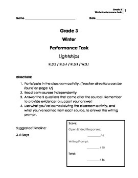 Performance Task: Grade 3 (Opinion)