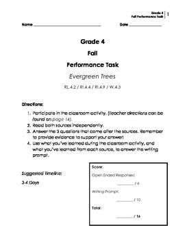 Performance Task: Grade 4 (Narrative)