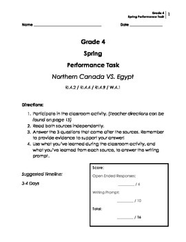 Performance Task: Grade 4 (Opinion)