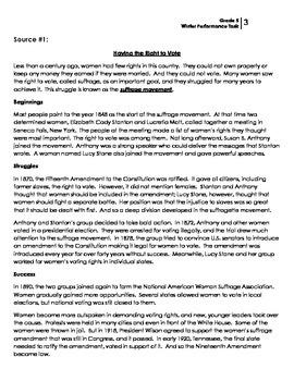 Performance Task: Grade 5 (Informative)