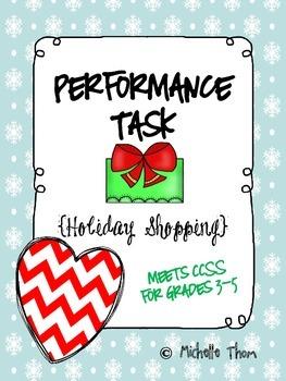 Performance Task {Holiday Shopping} FREEBIE!