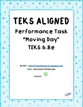 "Performance Task Inclined Plane ""Moving Day"" TEKS 6.8e"