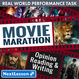 Bundle G5 Opinion Reading & Writing - 'Movie Marathon' Performance Task
