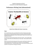 Performance Task - Insects: The Benefits to Humans