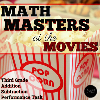 Performance Task - Math Masters at the Movies SBAC
