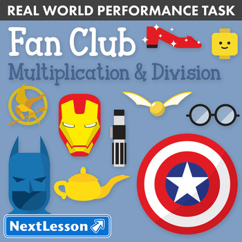 Bundle G3 Multiplication & Division - 'Fan Club' Performance Task