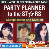 Bundle G4 Multiplication & Division - 'Party Planner to the Stars' Task