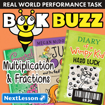 Performance Task – Multiplication & Fractions – Book Buzz: