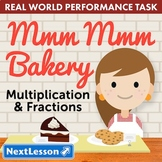 Bundle G3 Multiplication & Fractions - Mmm Mmm Bakery Performance Task