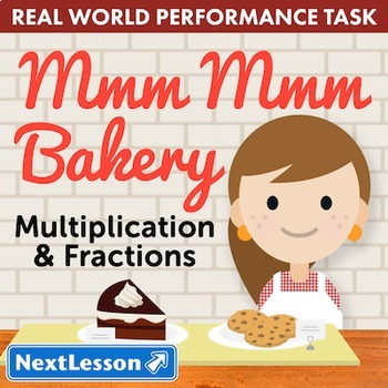 Bundle G3 Multiplication & Fractions - Mmm Mmm Bakery Performance Task