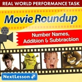 Bundle G4 Number Names, Addition & Subtraction-Movie Roundup Performance Task