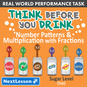 Bundle G4 Patterns & Multiplication - Think Before You Drink Performance Task