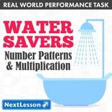 Bundle G5 Number Patterns & Multiplication - Water Savers Performance Task