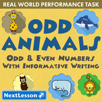 G2 Odd & Even Numbers & Informative Writing – Odd Animals Performance Task