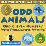 G2 Odd & Even Numbers & Informative Writing – Odd Animals Performance Task