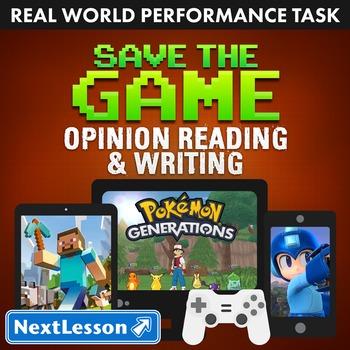 Performance Task – Opinion Reading & Writing – Save the Ga