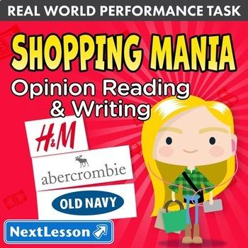 Bundle G3 Opinion Reading & Writing - 'Shopping Mania' Performance Task