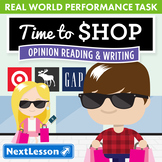 G4 Opinion Reading & Writing - 'Time to Shop' Performance Task