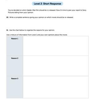 Bundle G3 Opinion Reading & Writing - 'Who's Watching?' Performance Task