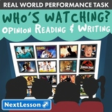 G3 Opinion Reading & Writing - 'Who's Watching?' Performance Task